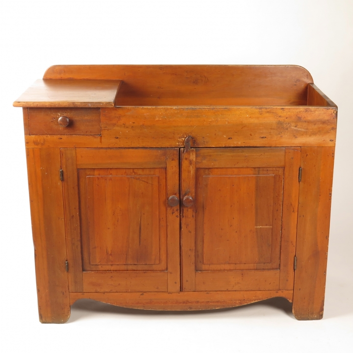 Antique 19th c primitive dry sink cabinet - 19th C Dry Sink One Drawer - Buzzards Roost